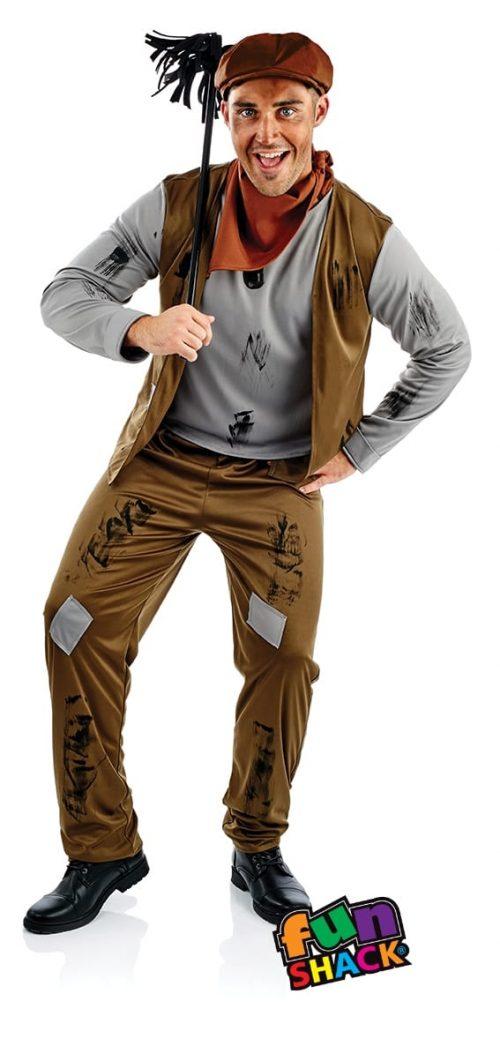 Chimney Sweep Men's Fancy Dress Costume