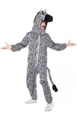 Zebra Animal Men's Fancy Dress Costume