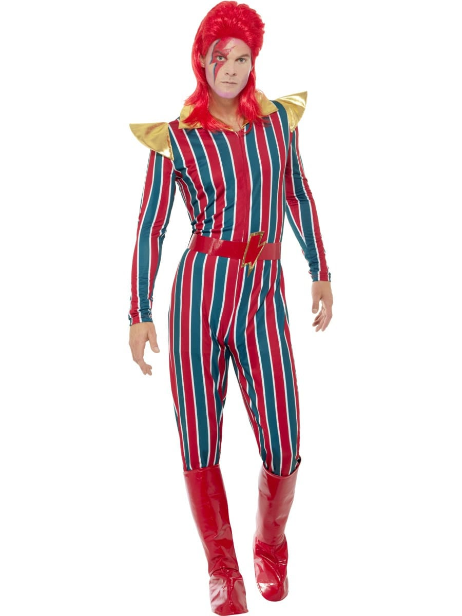 Space Superstar (Bowie) Men's Fancy Dress Costume