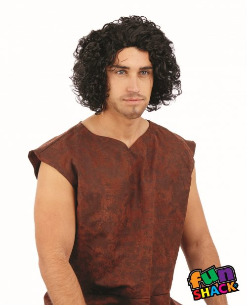 Medieval Curly Black Wig