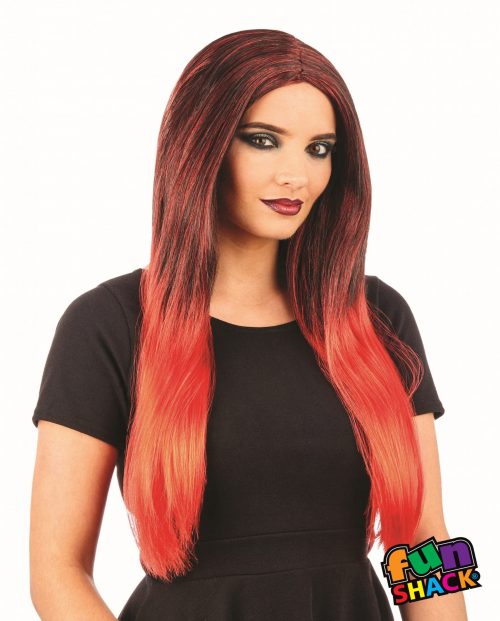 Black/Red Ombre Wig
