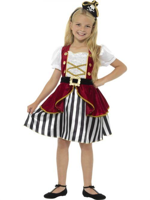 Deluxe Pirate Girl Children's Fancy Dress Costume