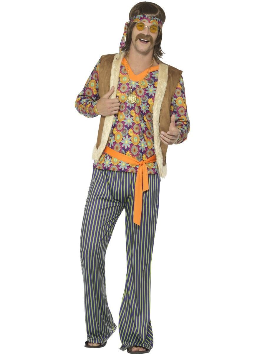 60's Hippie Singer Men's Fancy Dress Costume