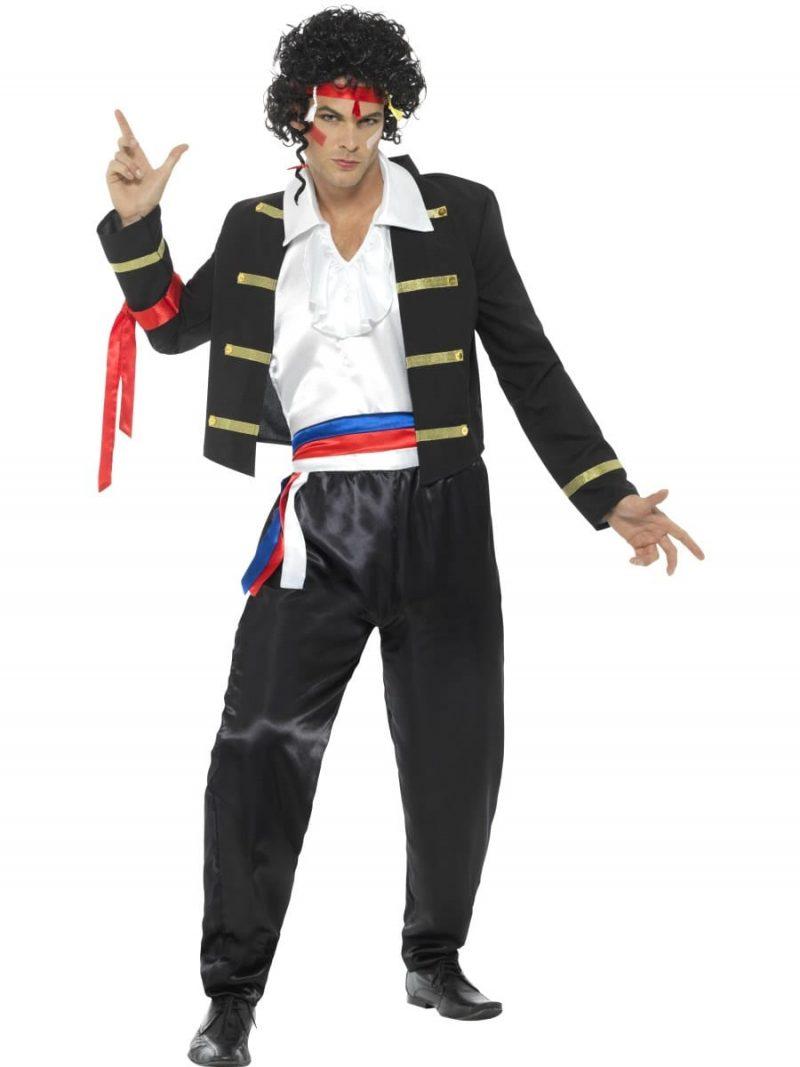 80's New Romantic (Adam Ant) Men's Fancy Dress Costume