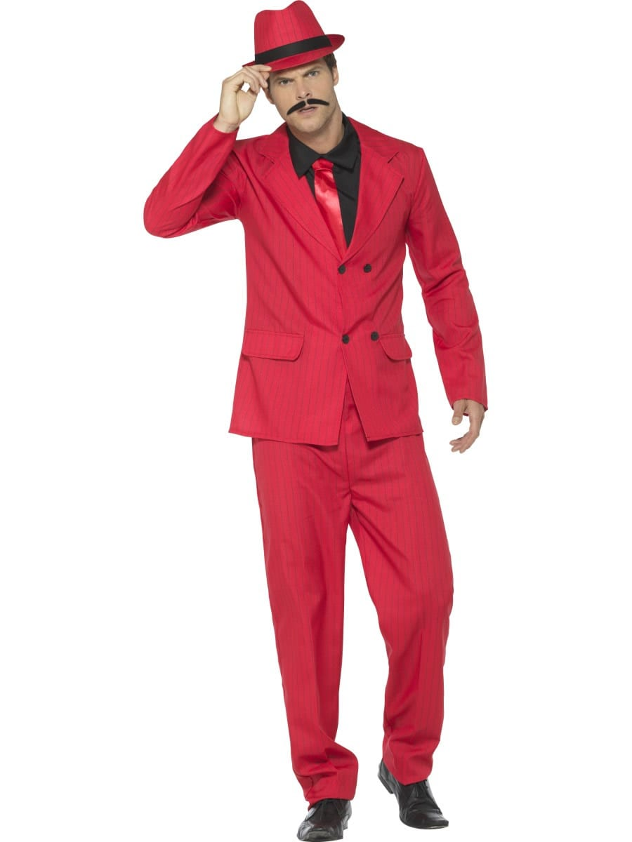 Zoot Suit Red Men's Fancy Dress Costume