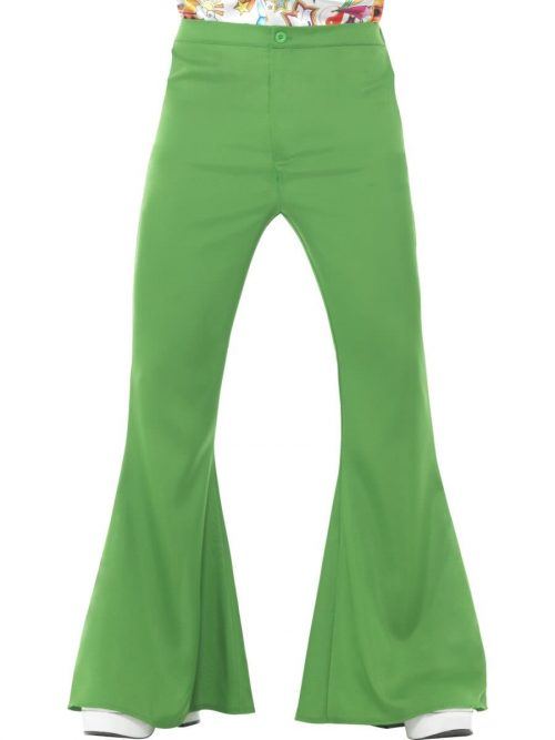 Green Flared Trousers Men's Fancy Dress Costume