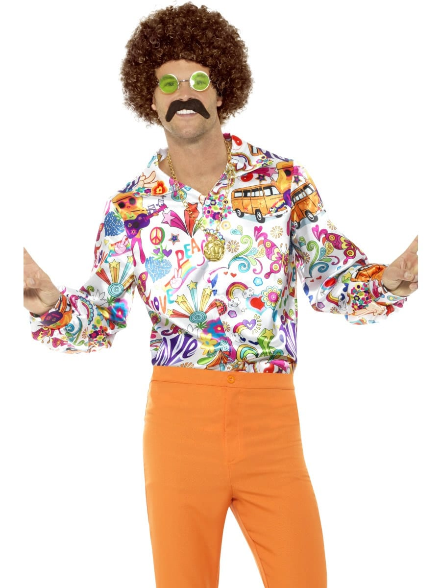 60's Groovy Shirt Men's Fancy Dress Costume