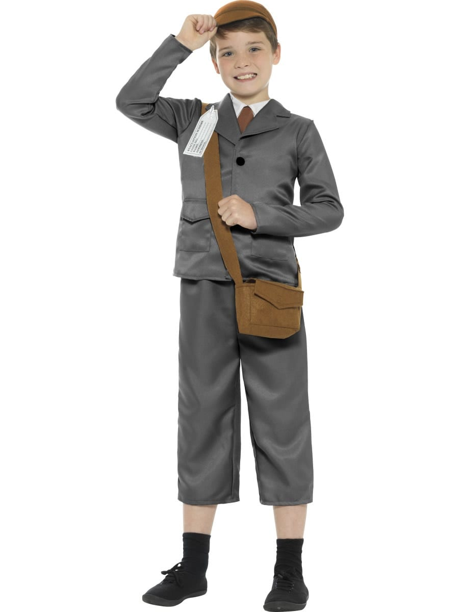 WW2 Evacuee Boy Children's Fancy Dress Costume