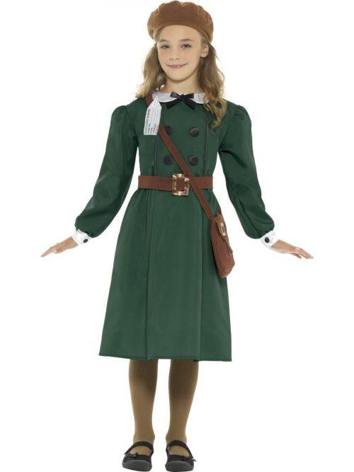 WW2 Evacuee Girl Children's Fancy Dress Costume