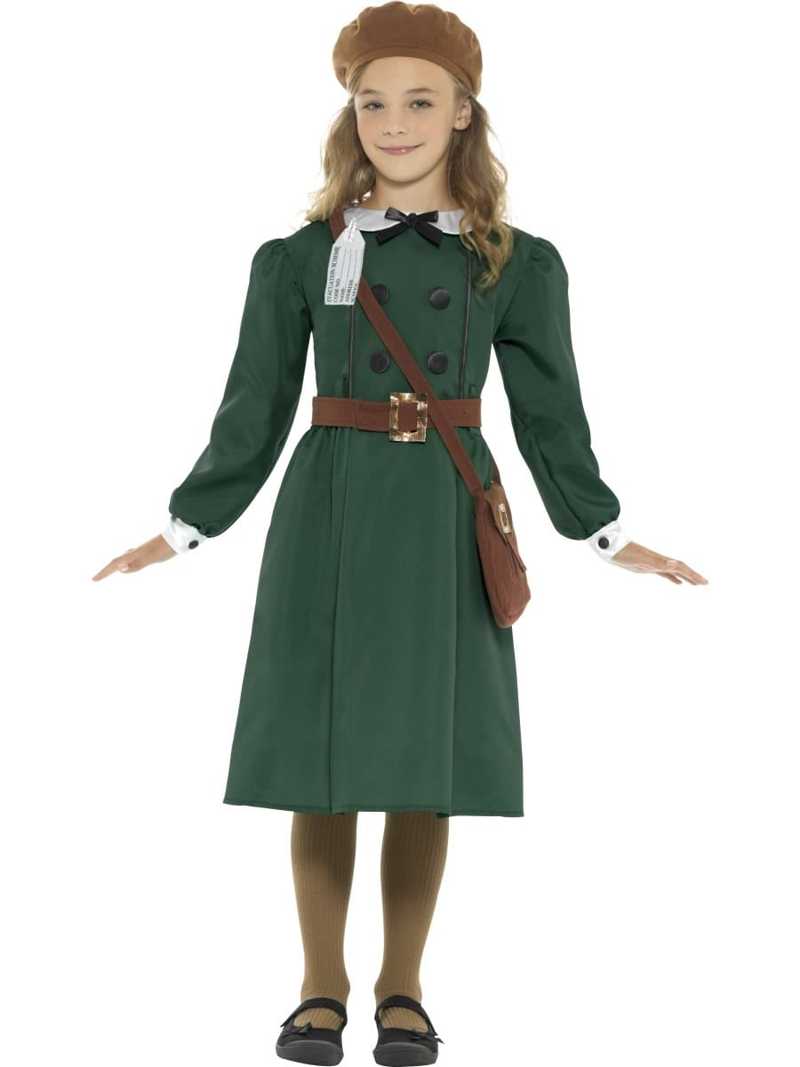 WW2 Evacuee Girl Children's Fancy Dress Costume