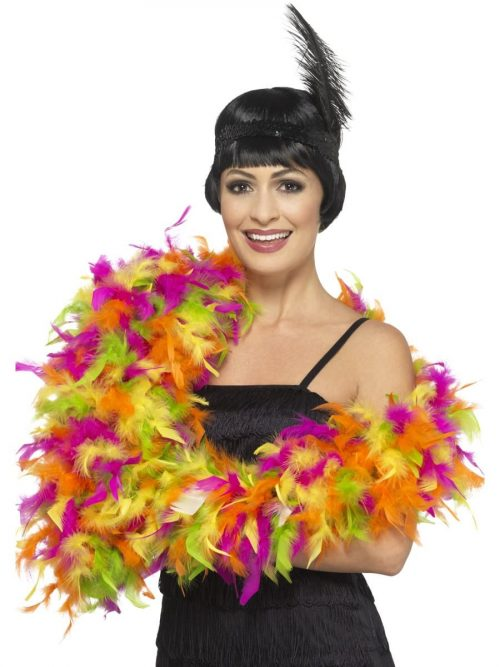 Mixed Neon Deluxe Feather Boa 80g