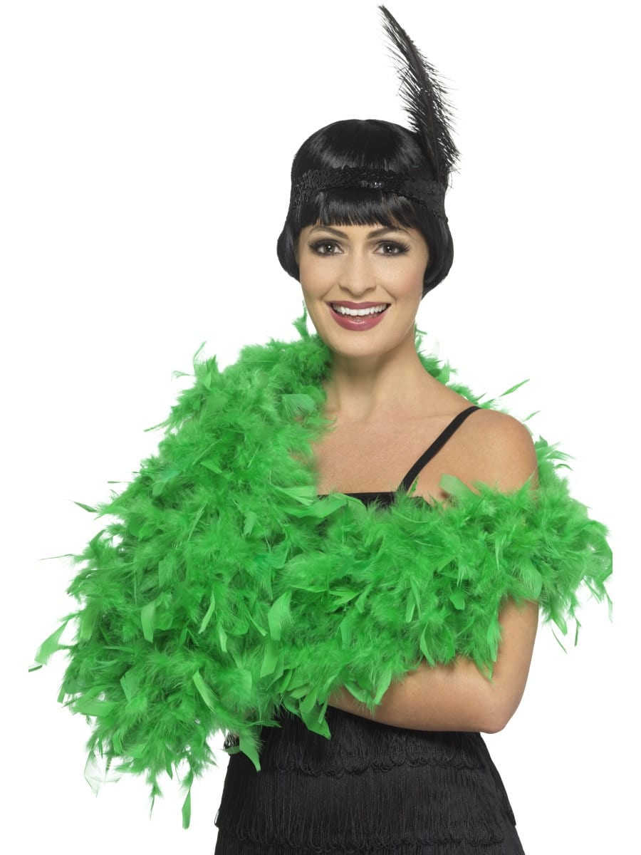 Emerald Green Deluxe Feather Boa 80g
