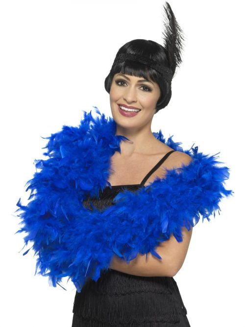 Royal Blue Deluxe Feather Boa 80g