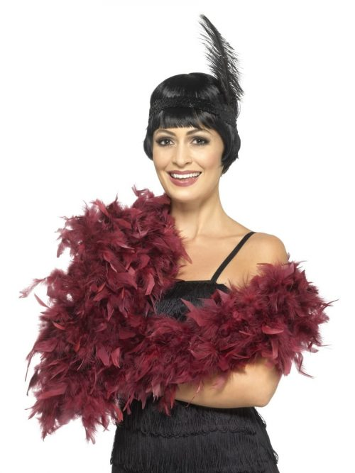 Burgundy Deluxe Feather Boa 80g