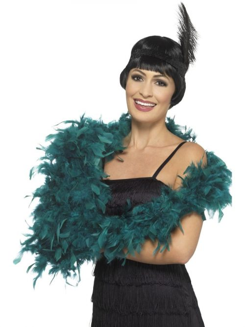 Teal Deluxe Feather Boa 80g