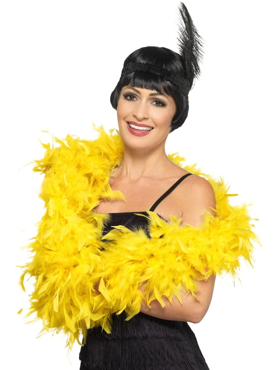 Gold Deluxe Feather Boa 80g