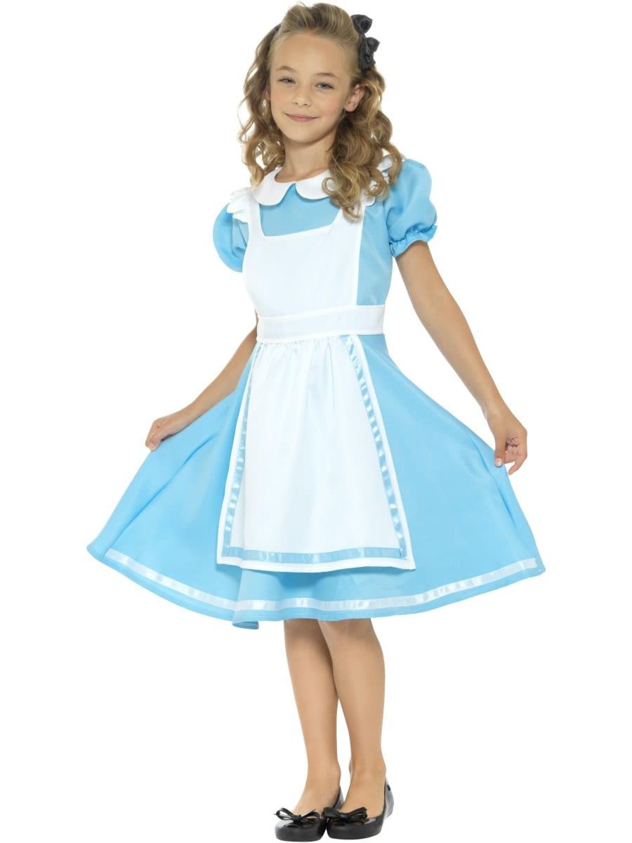 Wonderland Princess Childrens Fancy Dress Costume