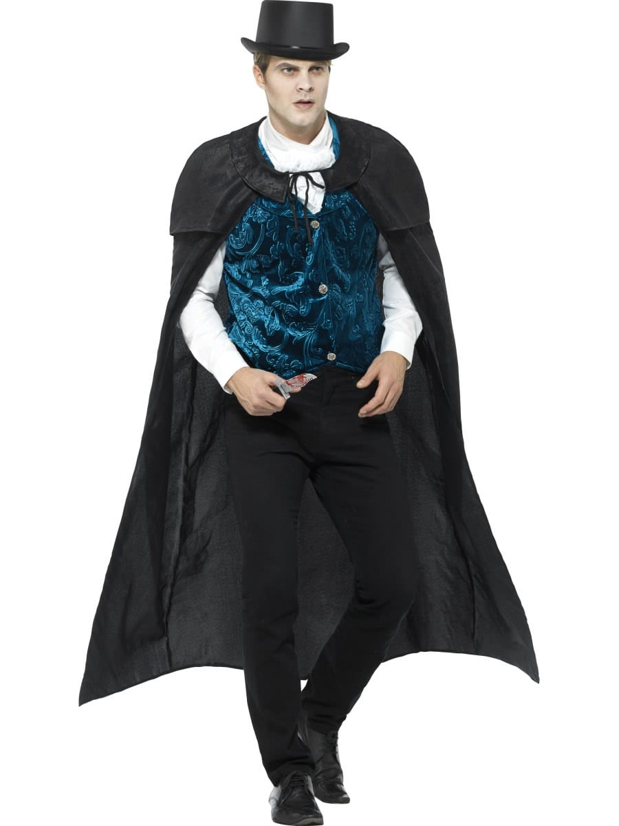 Deluxe Victorian Jack The Ripper Men's Fancy Dress Costume