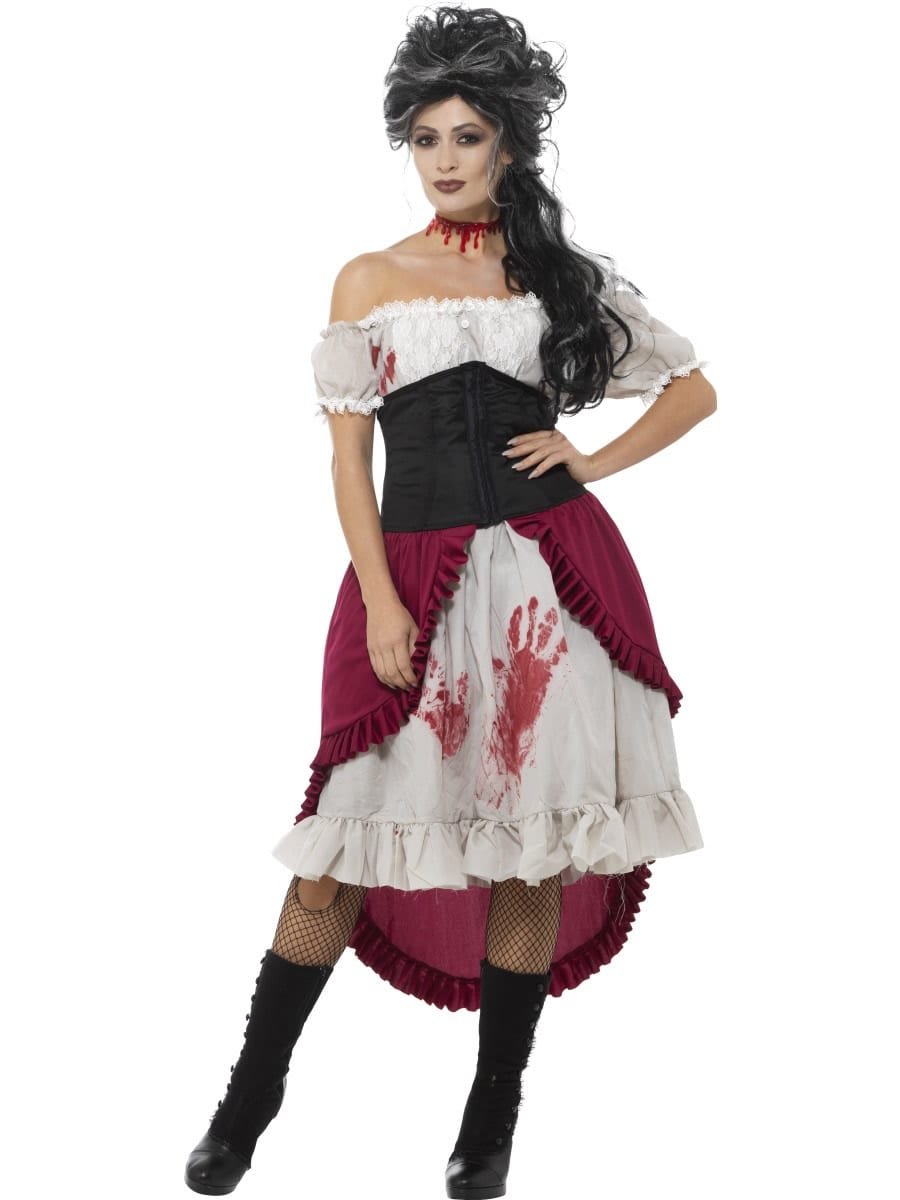 Victorian Slasher Victim Ladies Fancy Dress Costume