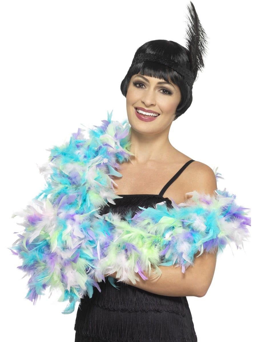 Mixed Pastel Deluxe Feather Boa 80g