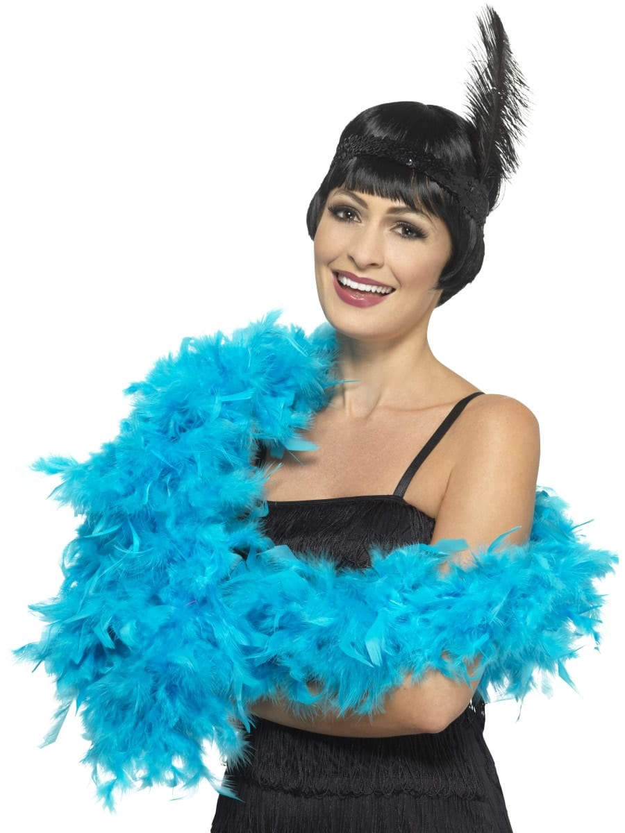 Turquoise Blue Deluxe Feather Boa 80g