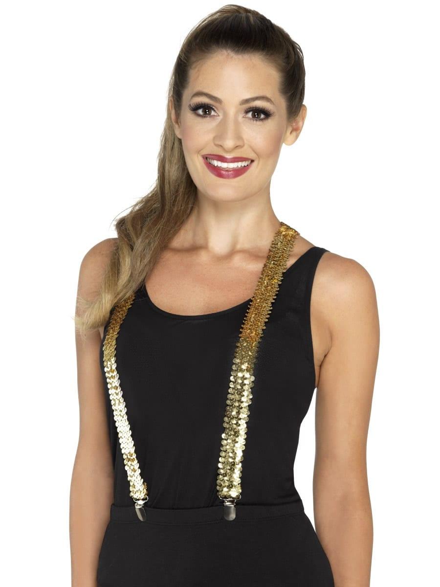 Sequin Braces, Gold