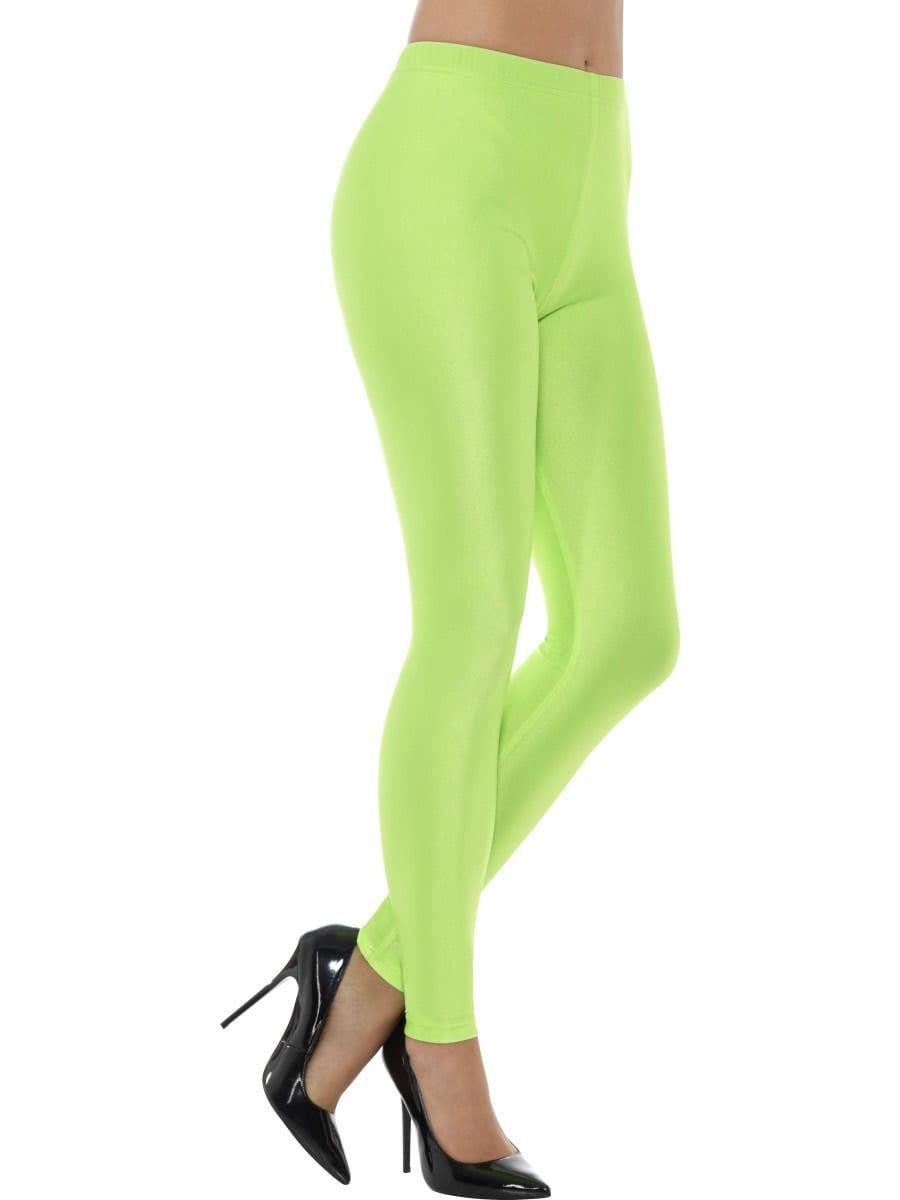 80's Disco Spandex Leggings, Neon Green