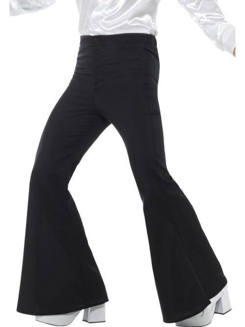 Black Flared Trousers Men's Fancy Dress Costume