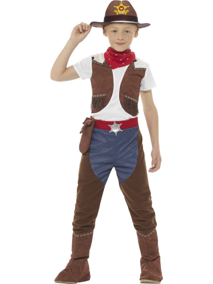 Deluxe Cowboy Children's Fancy Dress Costume