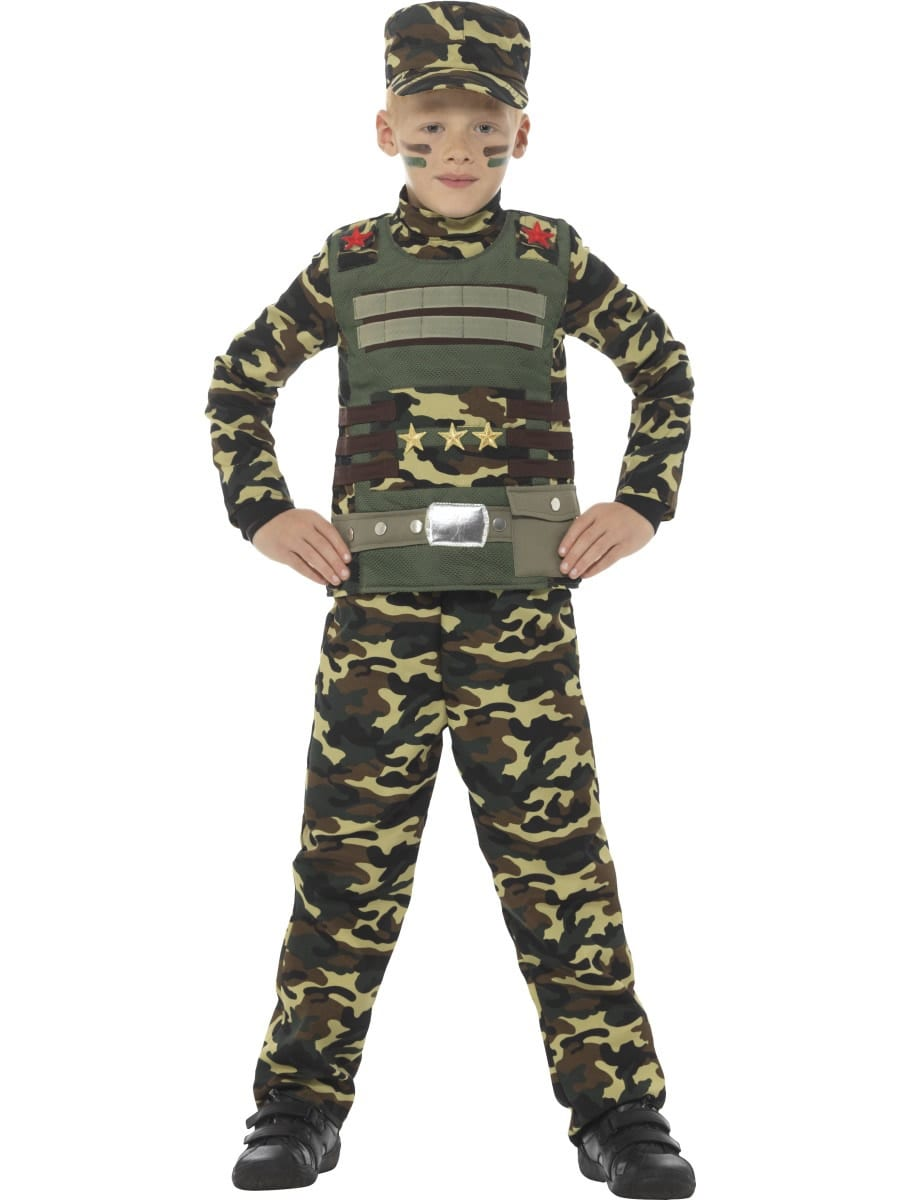 Camouflage Military Boy Children's Fancy Dress Costume