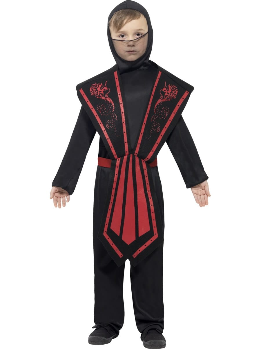 Ninja Black/Red Children's Fancy Dress Costume