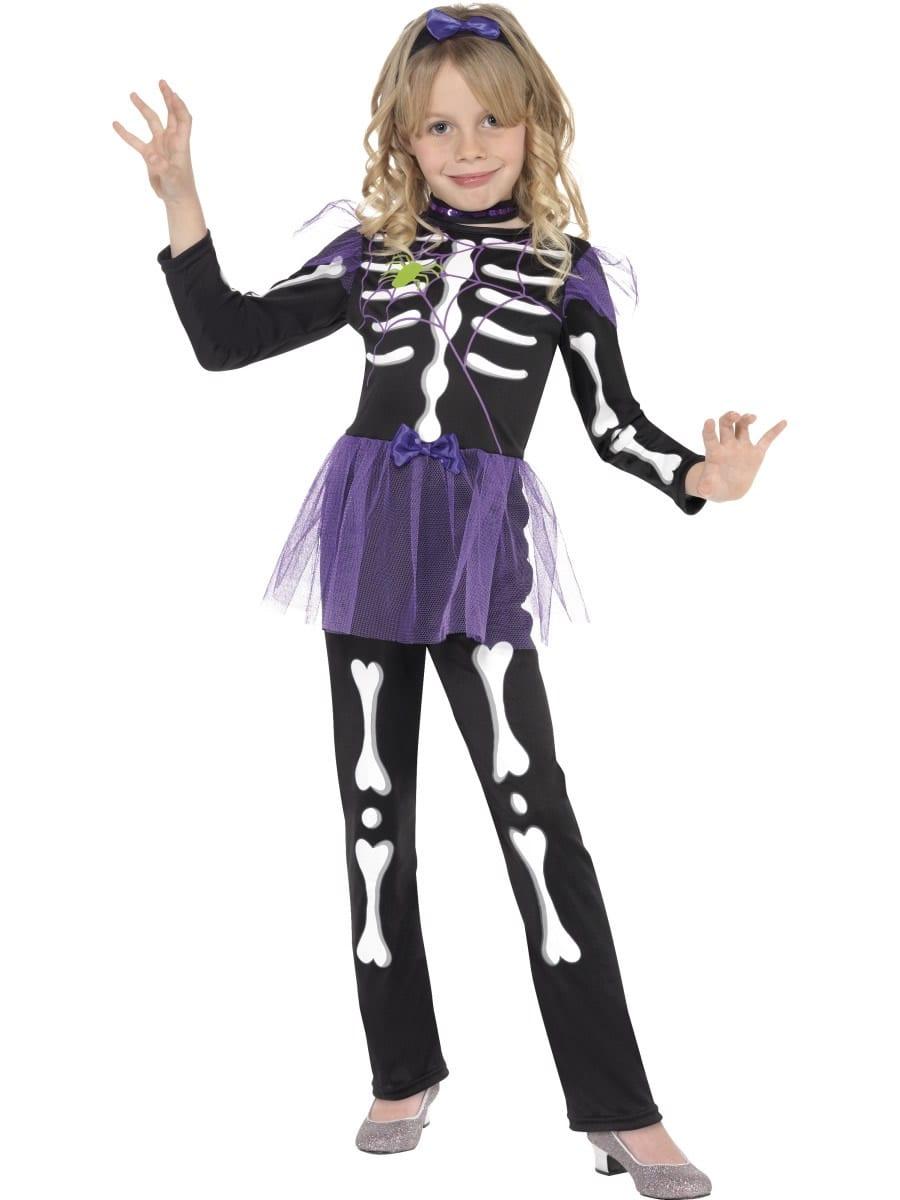 Skellie Punk Children's Halloween Fancy Dress Costume