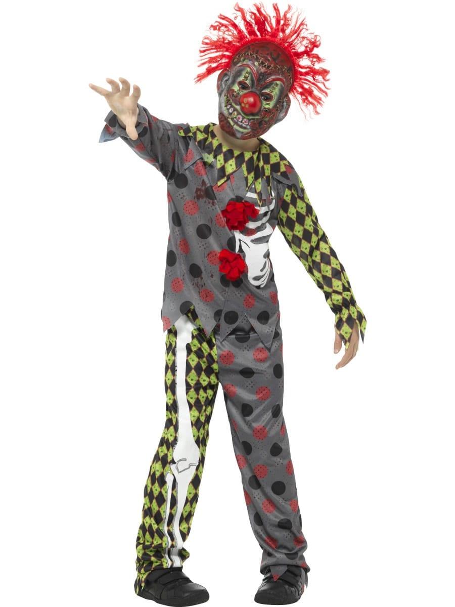Deluxe Twisted Clown Halloween Children's Fancy Dress Costume