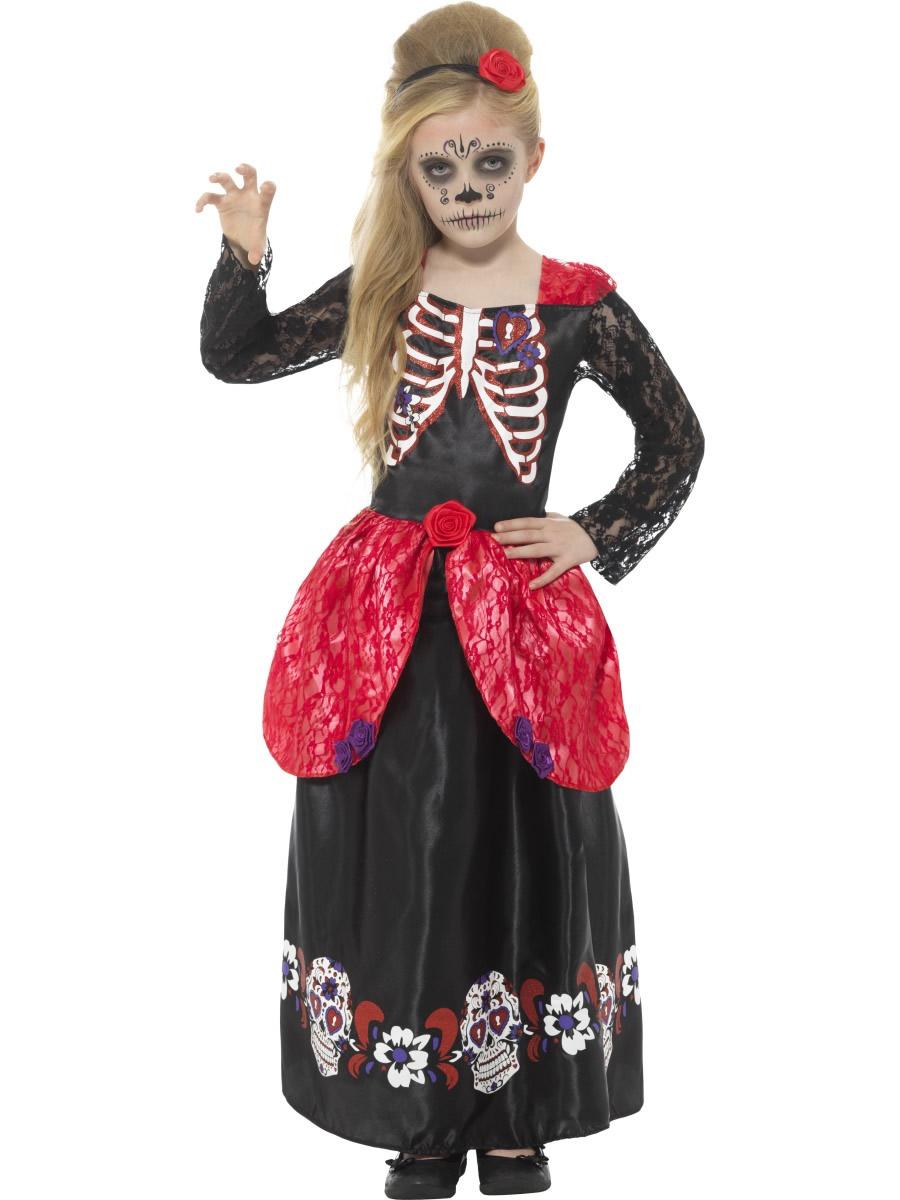 Day of the Dead Girl Children's Halloween Fancy Dress Costume