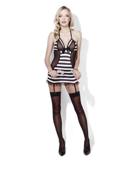 Fever Lingerie Prisoner Bad Girl Ladies Fancy Dress Costume