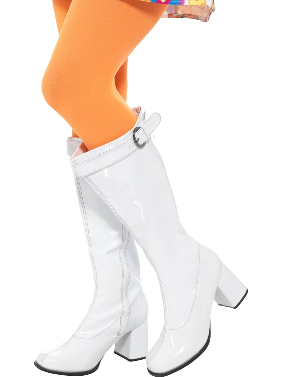 60's Ladies White GoGo Boots