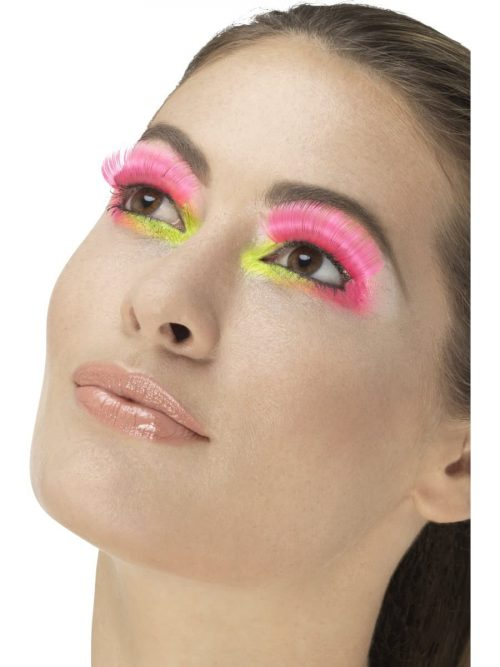 80's Party Eyelashes, Neon Pink