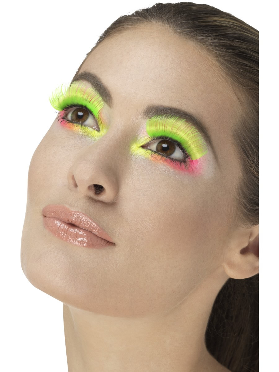 80's Party Eyelashes, Neon Green