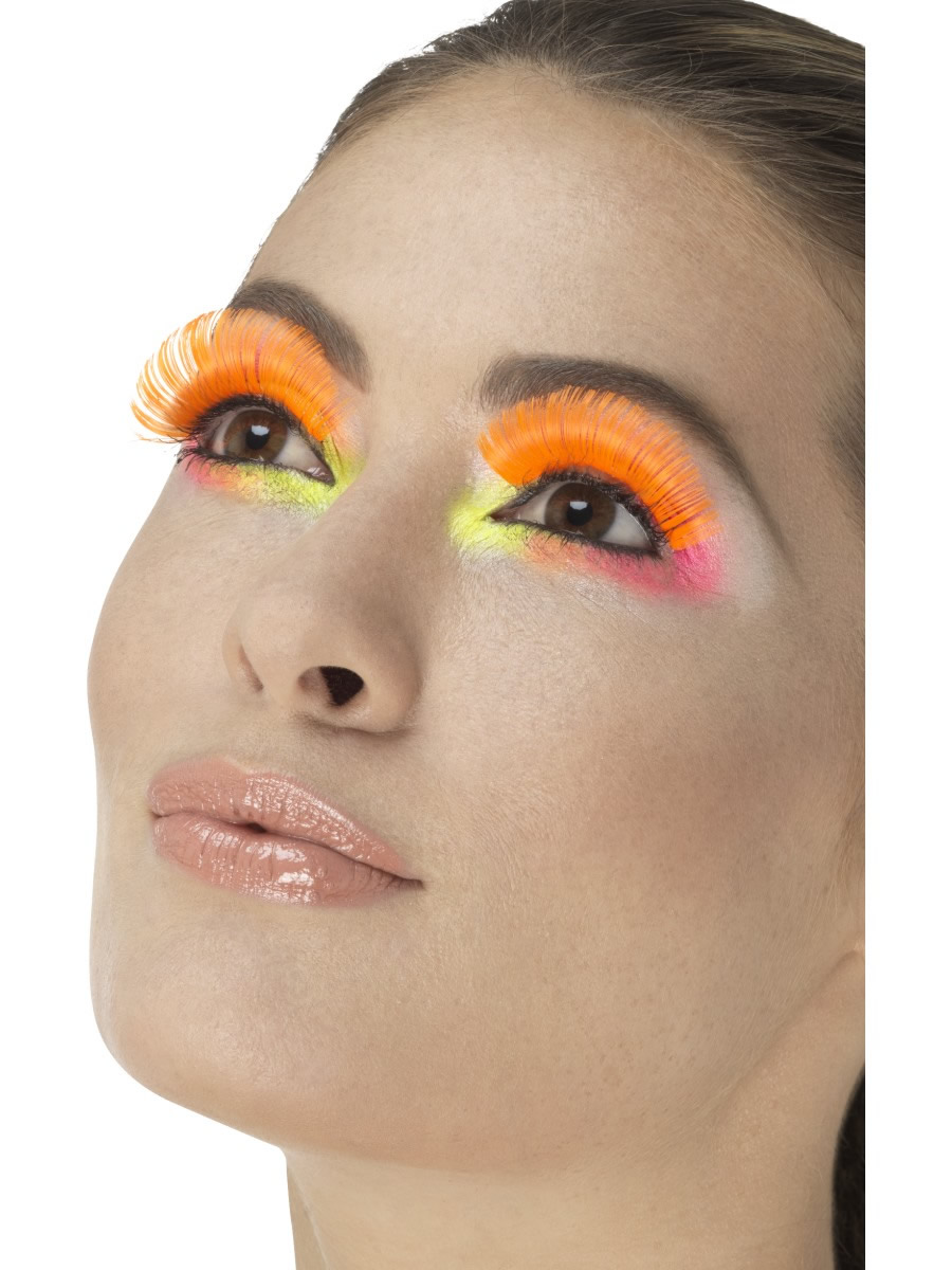 80's Party Eyelashes, Neon Orange