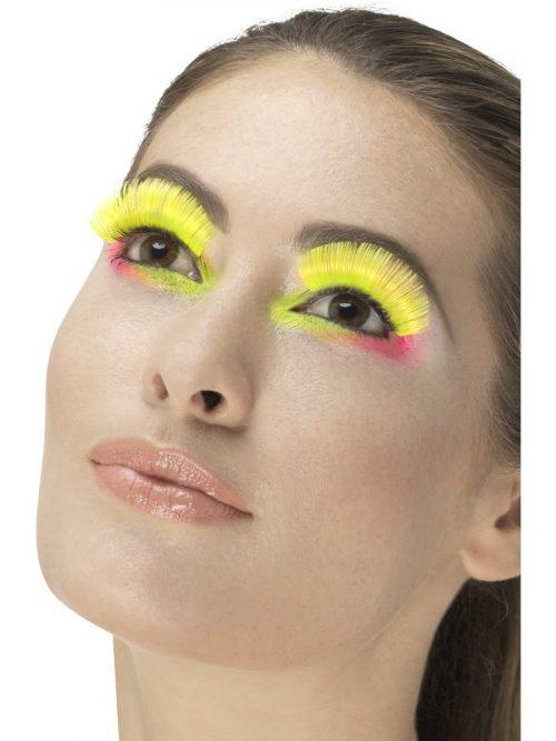 80's Party Eyelashes, Neon Yellow
