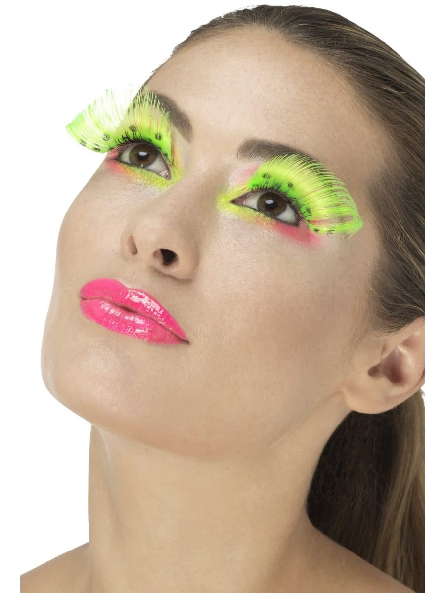 80's Polka Dot Eyelashes, Neon Green