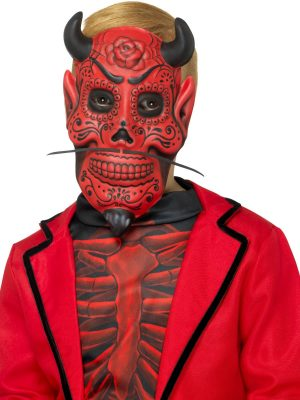 Day of the Dead Devil Mask, Red, EVA