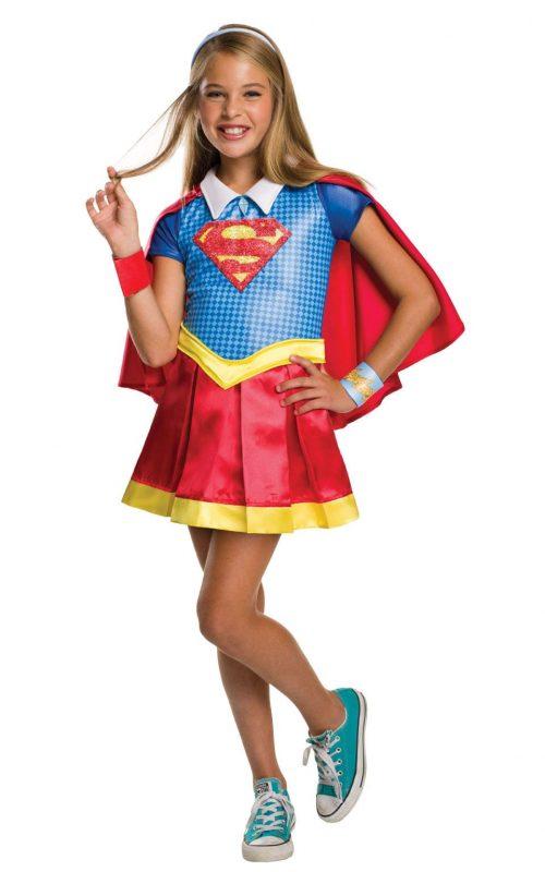 DC Super Hero Supergirl Deluxe Children's Fancy Dress Costume