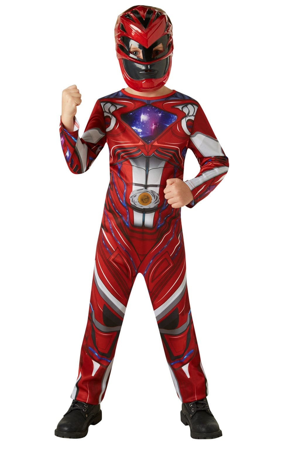 Power Ranger Movie Red Ranger Classic Children's Fancy Dress Costume