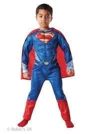 Superman Man of Steel Super Hero Childrens Fancy Dress Costume