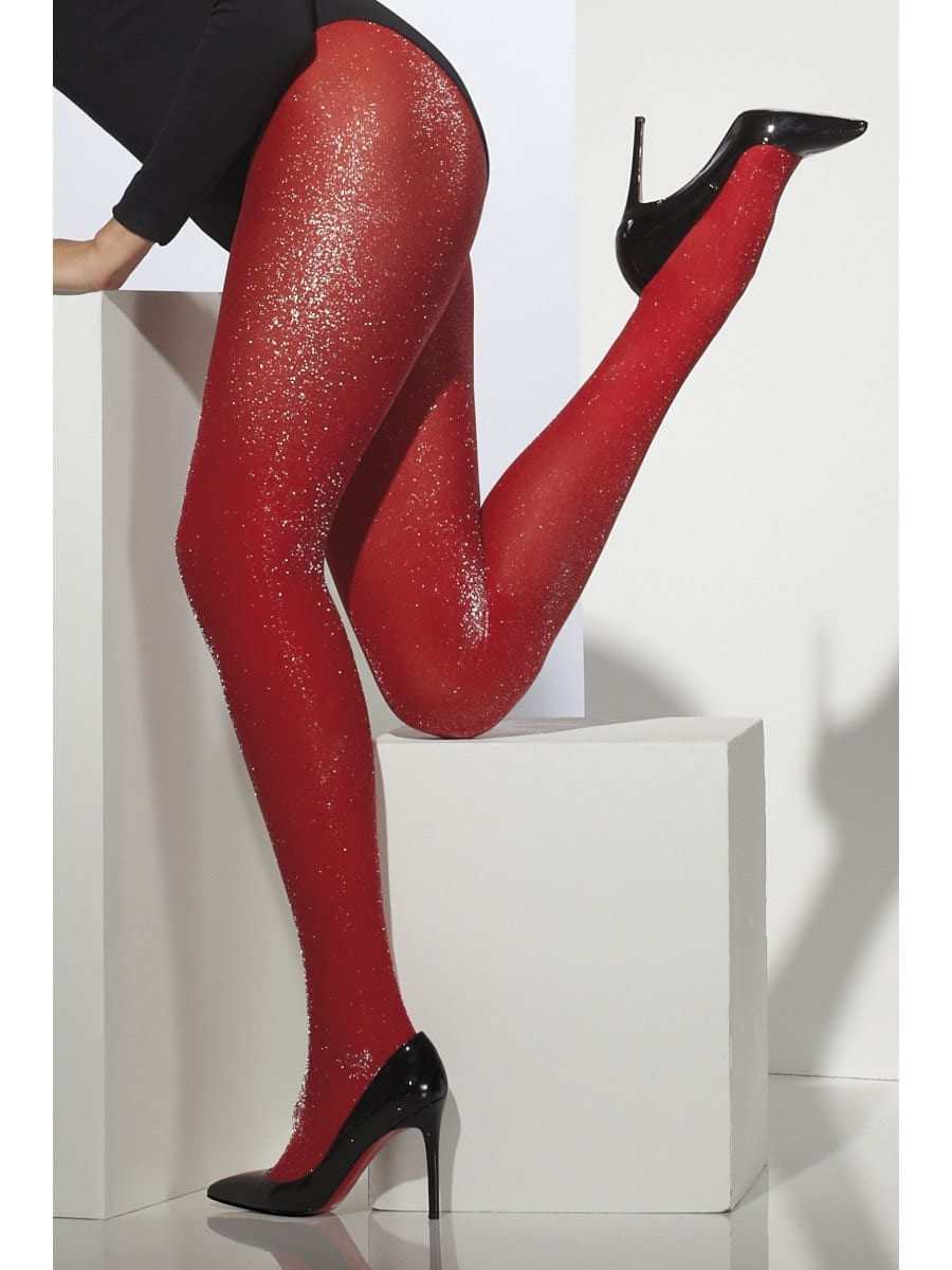 Red Sparkle Tights