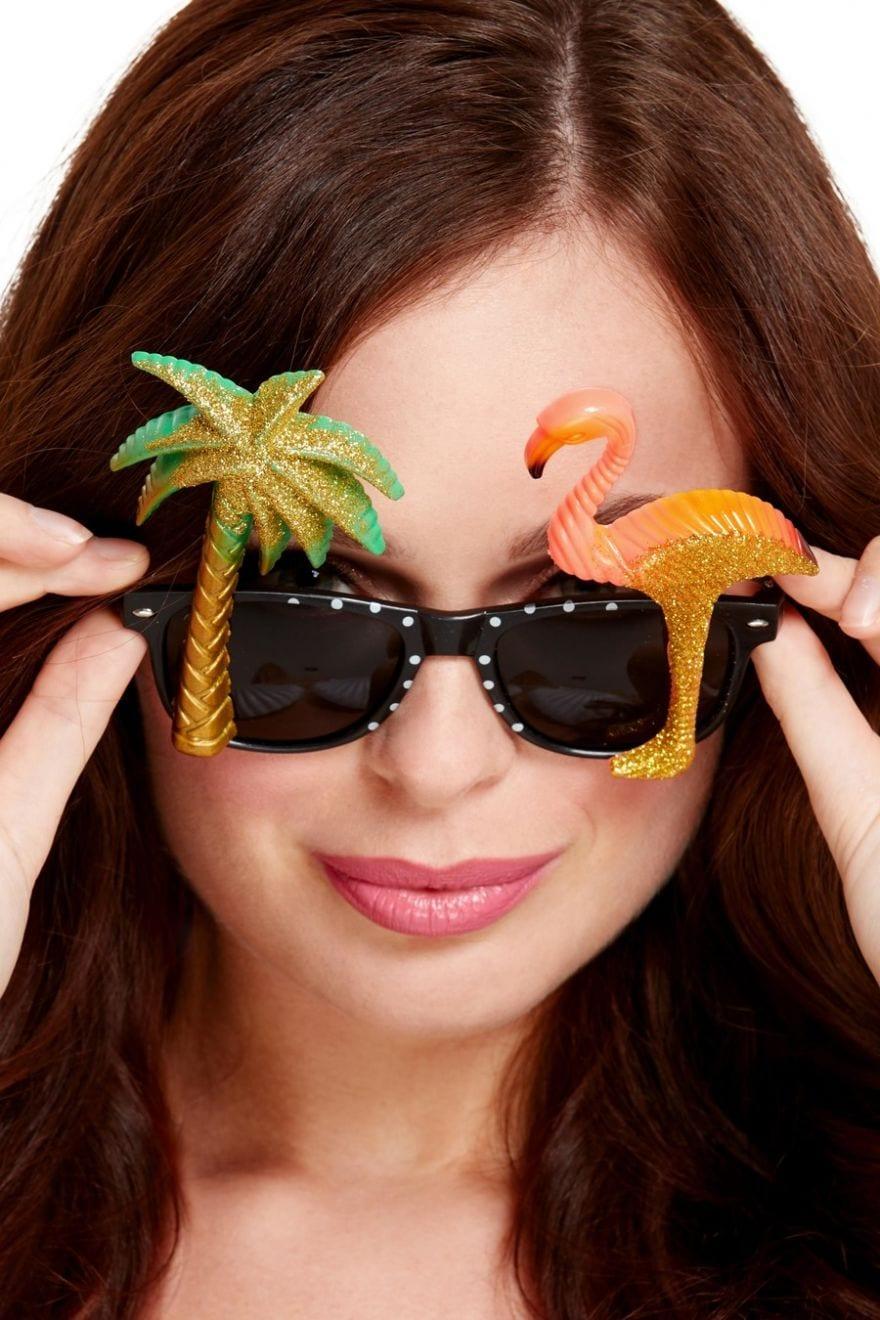Specs, Hawaiian With Flamingo and Palm Tree-0
