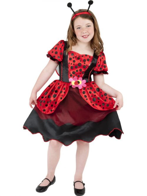 Little Lady Bug Girl's Children's Fancy Dress Costum