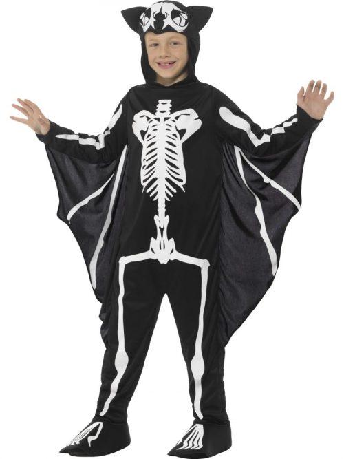 Bat Skeleton Halloween Children's Fancy Dress Costume