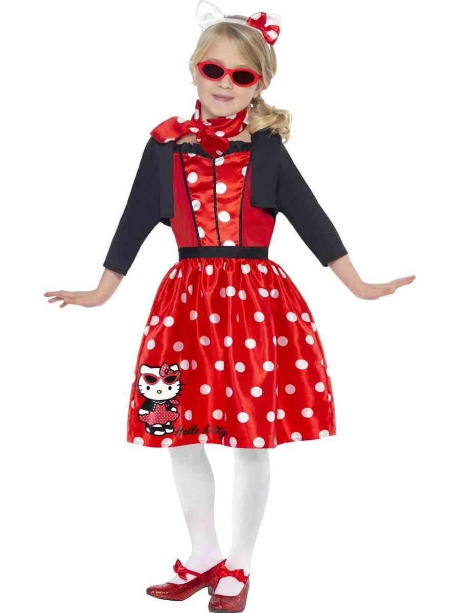 Hello Kitty Retro 50's Cherry Children's Fancy Dress Costume